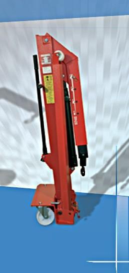 Werkstattkran 2000 Kg, klappbar, Mazzola M 20 SD, mobiler Werkstattkran – Bild 2