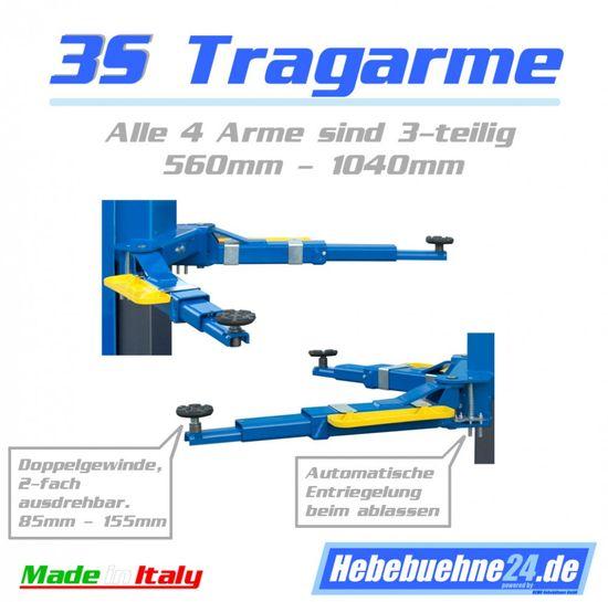 Eurolift Z-63/3S, 2-Säulen-Hebebühne mit 3,5t, hydraulisch – Bild 2