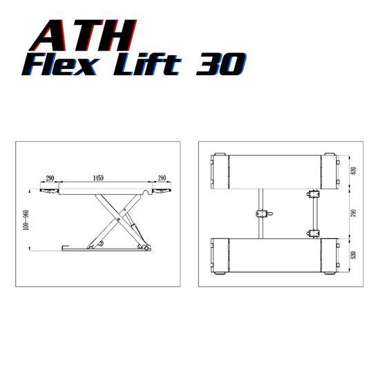 Mobile-Hebebühne ATH-Flex Lift 30 mit 3t Tragkraft, pulverbeschichtet – Bild 3