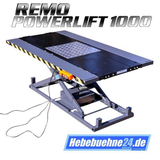 Quad-Hebebühne, REMO Powerlift 1000, 1000Kg Tragkraft, schwarz – Bild 2