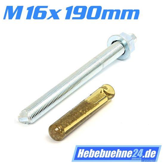 Klebeanker für Hebebühnen mit M16mm x 190mm Länge – Bild 1