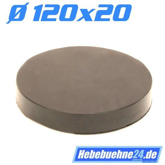 Gummiauflage für Wagenheber mit Profil, Ø120x20mm – Bild 2