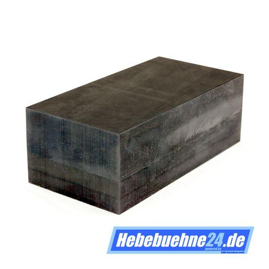 Gummiklotz für KFZ Hebebühnen, Vollmaterial, Maße: 200x100x70mm – Bild 1