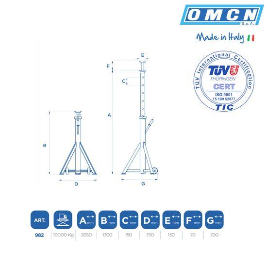 Fahrbarer Unterstellbock OMCN 982 mit 10t und 2,05m hoch – Bild 2