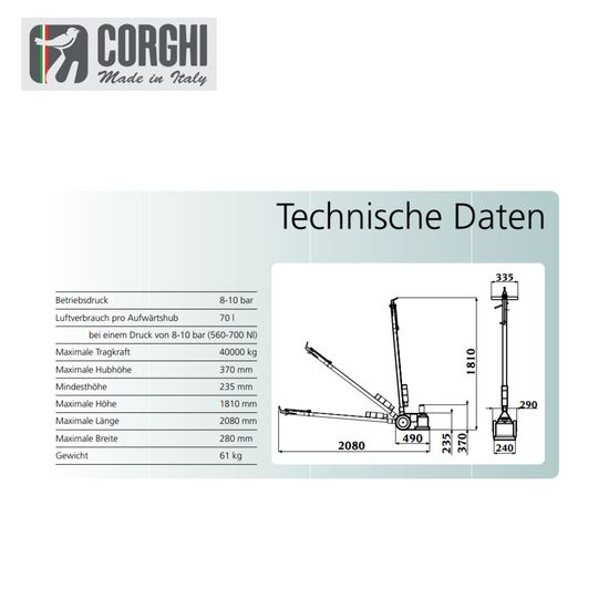 Wagenheber Corghi CA440 mit 40t Tragkraft – Bild 2