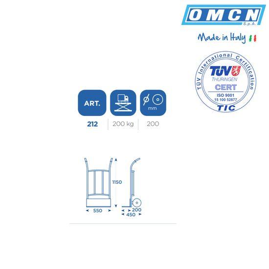 Sackkarre mit 200kg, leicht, kompakt, OMCN 212 – Bild 4