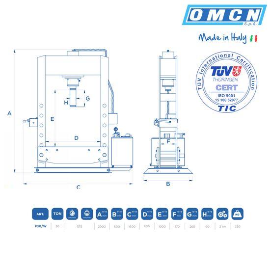 Hydraulikpresse 30t, OMCN P30/W, elektrohydraulisch – Bild 3