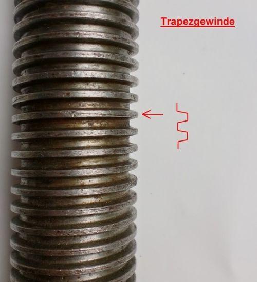 Tragmutter für Zippo Hebebühne Typ: ZO, Trapezgewinde Ø45x6mm, Maße 60x60x80mm, Zippo lifting nut, Main nut, – Bild 3