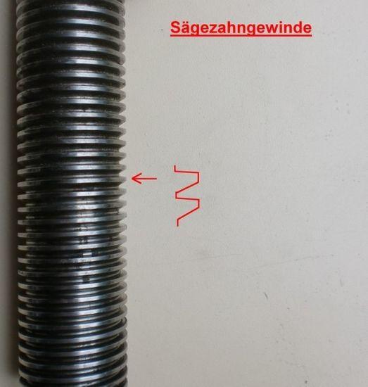 Sicherheitsmutter für Zippo Hebebühne Typ 1001, 1101, 1201, 1301, 1211, 1311, 1111, ZO2 mit Sägezahn-Gewinde – Bild 3