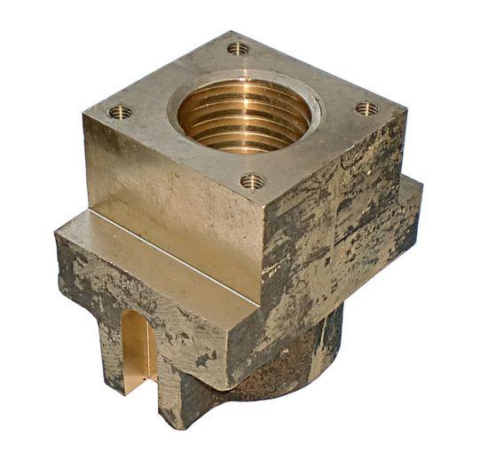 Tragmutter passend für Hebebühne OMCN 199 O/F + Typ 500 aus Bronze mit TR Ø45x6, Leading Nut, Main-Nut – Bild 2