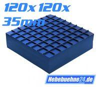 Gummibloc, Vollmaterial, Oberflächenstruktur, 120x120x35