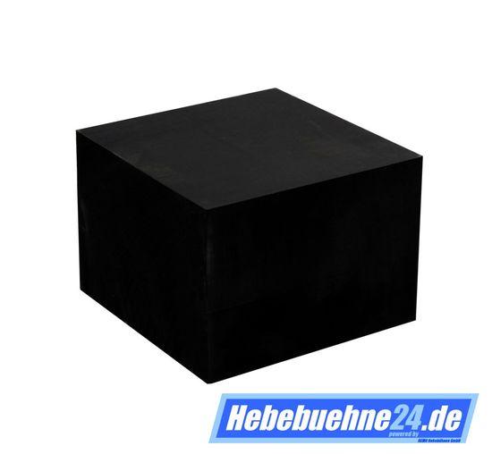 Gummiklotz für Hebebuehnen, Vollgummi, Maße: 100x100x70mm – Bild 2