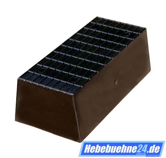 Gummiklotz für KFZ Hebebühnen, mit Struktur-Oberfläche, Vollmaterial, Maße: 200x100x70mm