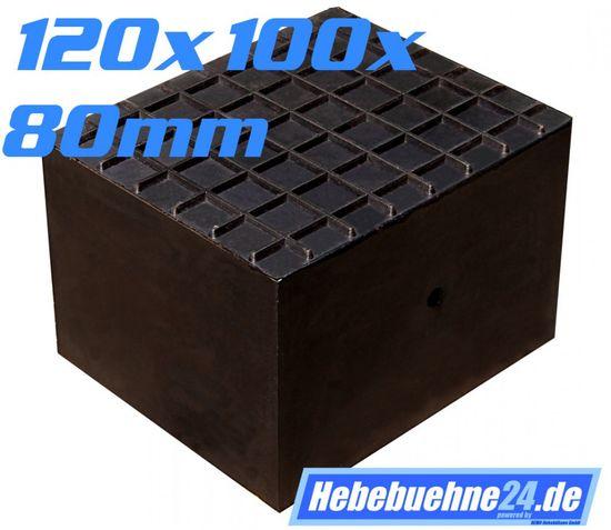 Gummiklotz, eckige Ausführung, Maße: 120x100x80mm – Bild 1