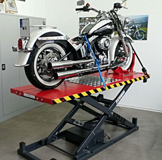 Motorradhebebühne REMO Powerlift 1000, elektr. Hydr. 1000Kg Tragkraft, blau – Bild 6