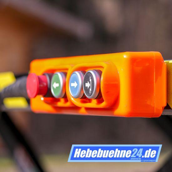 Motorradhebebühne REMO Powerlift 1000, elektr. Hydr. 1000Kg Tragkraft, blau – Bild 9