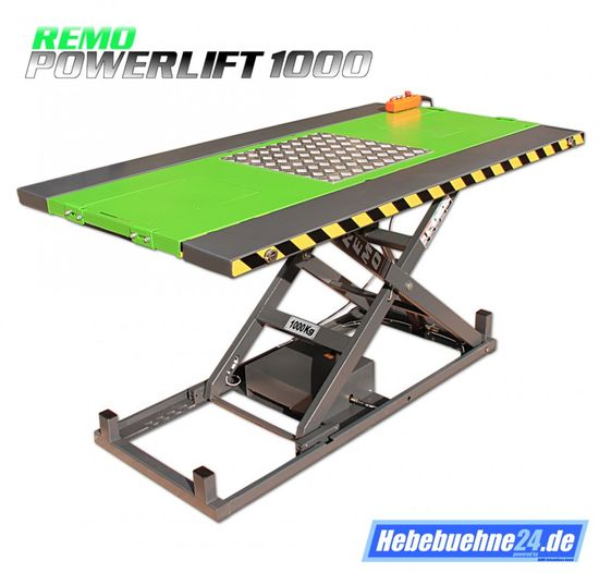 Quad-Lift, REMO Powerlift 1000 mit 1000 Kg Tragkraft, 120cm Hubhöhe, grün – Bild 1