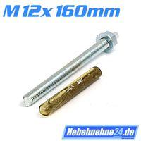 Klebeanker für Hebebühnen mit M12mm x 160mm Länge