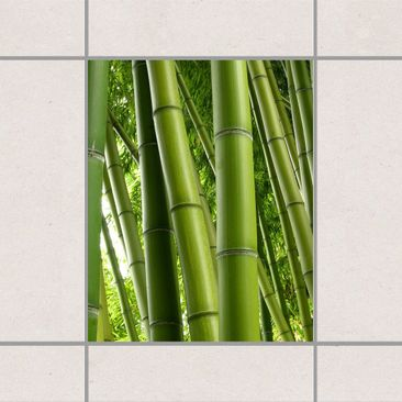 Product picture Tile Sticker - Bamboo Trees No.1 25cm x...