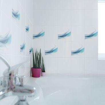 Product picture Tile Sticker - Blue Dust 25cm x 20cm