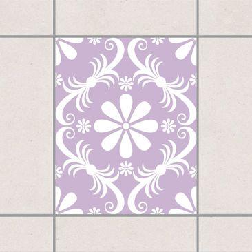 Produktfoto Fliesenaufkleber - Blumendesign Lavender...