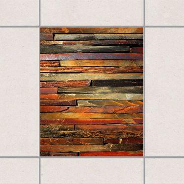 Produktfoto Fliesenaufkleber - Bretterstapel 25x20 cm - Fliesensticker Set