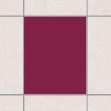 Produktfoto Fliesenaufkleber Bad & Küche - Colour Wine Red 25x20 cm - Set Rot