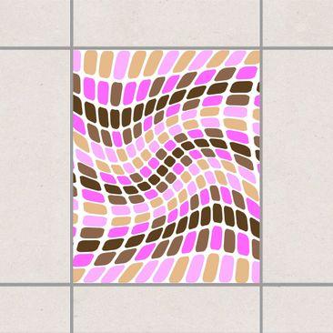 Produktfoto Fliesenaufkleber - Dancing Square 25x20 cm - Fliesensticker Set