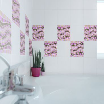 Product picture Tile Sticker - Dancing Square 25cm x...