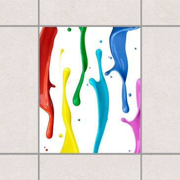 Product picture Tile Sticker - Colour splash 25cm x 20cm