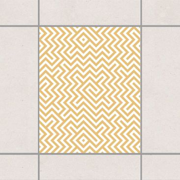 Produktfoto Fliesenaufkleber - Geometrisches Musterdesign Gelb 25x20 cm - Fliesensticker Set