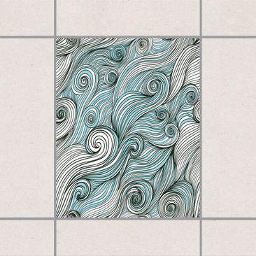 Produktfoto Fliesenaufkleber - Gott Des Ozeans 25x20 cm - Fliesensticker Set