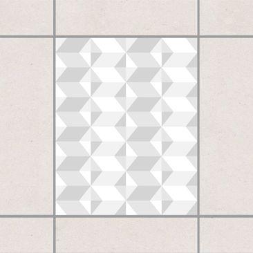 Produktfoto Fliesenaufkleber - Graues Fliesenmuster 25x20 cm - Fliesensticker Set