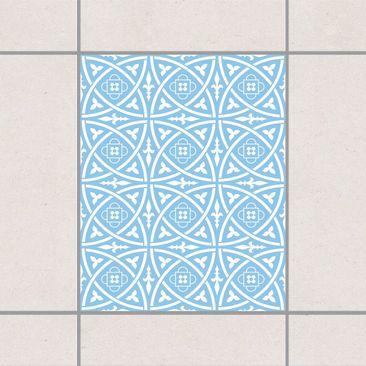 Produktfoto Fliesenaufkleber - Keltisch Light Blue 25x20 cm - Fliesensticker Set Blau