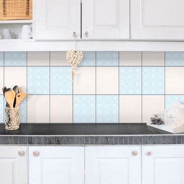 Product picture Tile Sticker - Celtic White Light Blue...