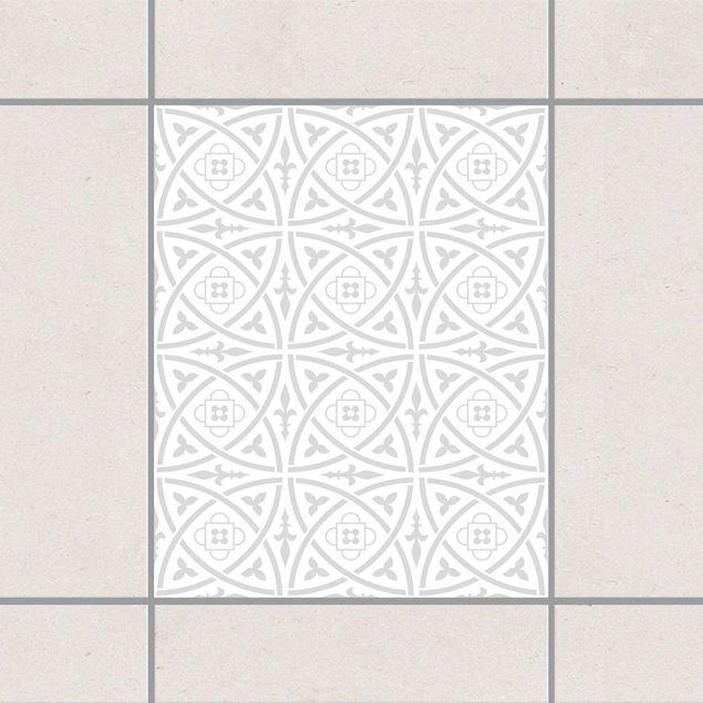 Produktfoto Fliesenaufkleber - Keltisch White Light Grey 25x20 cm - Fliesensticker Set Grau