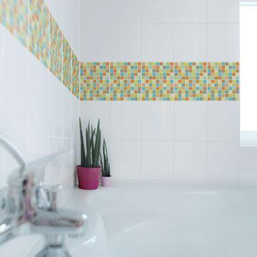 Produktfoto Fliesenaufkleber Mosaik - selbstklebende Mosaikfliesen Sommerset 25x20 cm - Klebefliesen