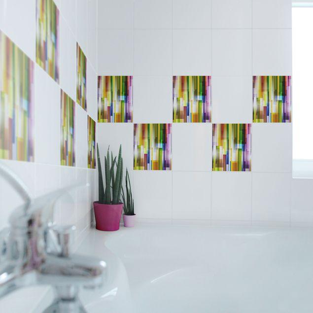 Produktfoto Fliesenaufkleber - Rainbow Cubes 25x20 cm - Fliesensticker Set