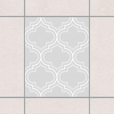 Produktfoto Fliesenaufkleber - Retro Marokko Light Grey 25x20 cm - Fliesensticker Set Grau