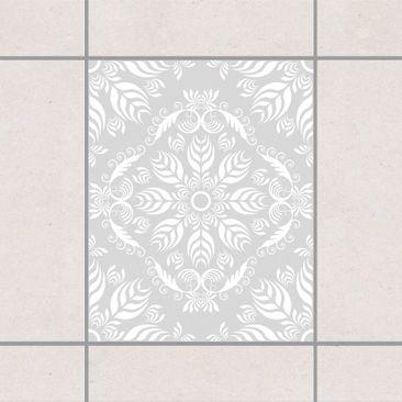 Produktfoto Fliesenaufkleber - Rosamunde Light Grey 25x20 cm - Fliesensticker Set Grau