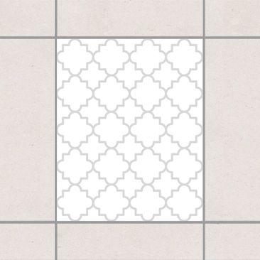 Produktfoto Fliesenaufkleber - Traditional Quatrefoil White Light Grey 25x20 cm - Fliesensticker Set