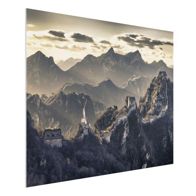 forex fine art print wandbild die gro e chinesische mauer quer 3 4. Black Bedroom Furniture Sets. Home Design Ideas