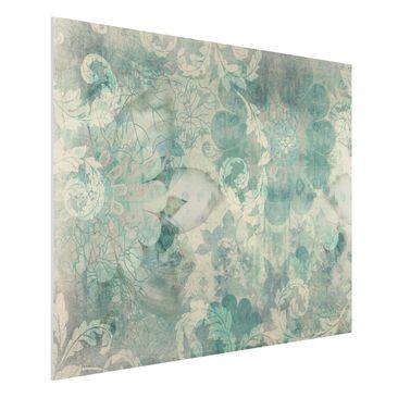 Produktfoto Forex Fine Art Print - Wandbild Eisblumen - Quer 3:4