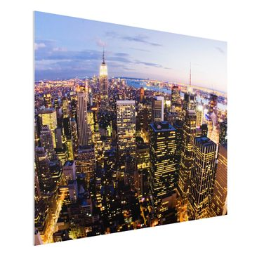 Immagine del prodotto Stampa su Forex - New York Skyline At Night - Orizzontale 3:4