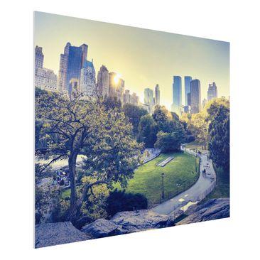 Produktfoto Forex Fine Art Print - Wandbild Peaceful Central Park - Quer 3:4