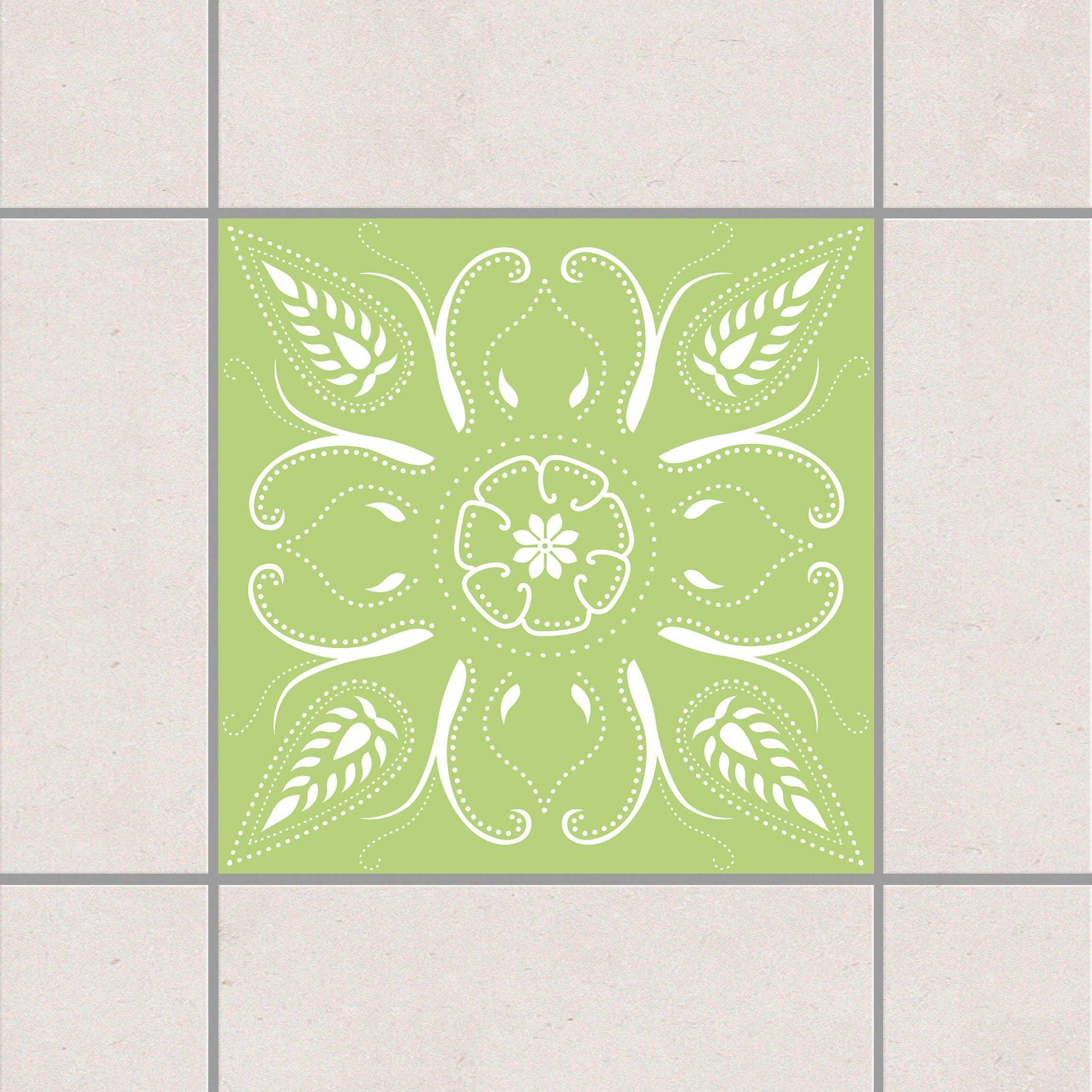 Fliesenaufkleber bandana spring green 15x15 cm for Fliesensticker 15x15