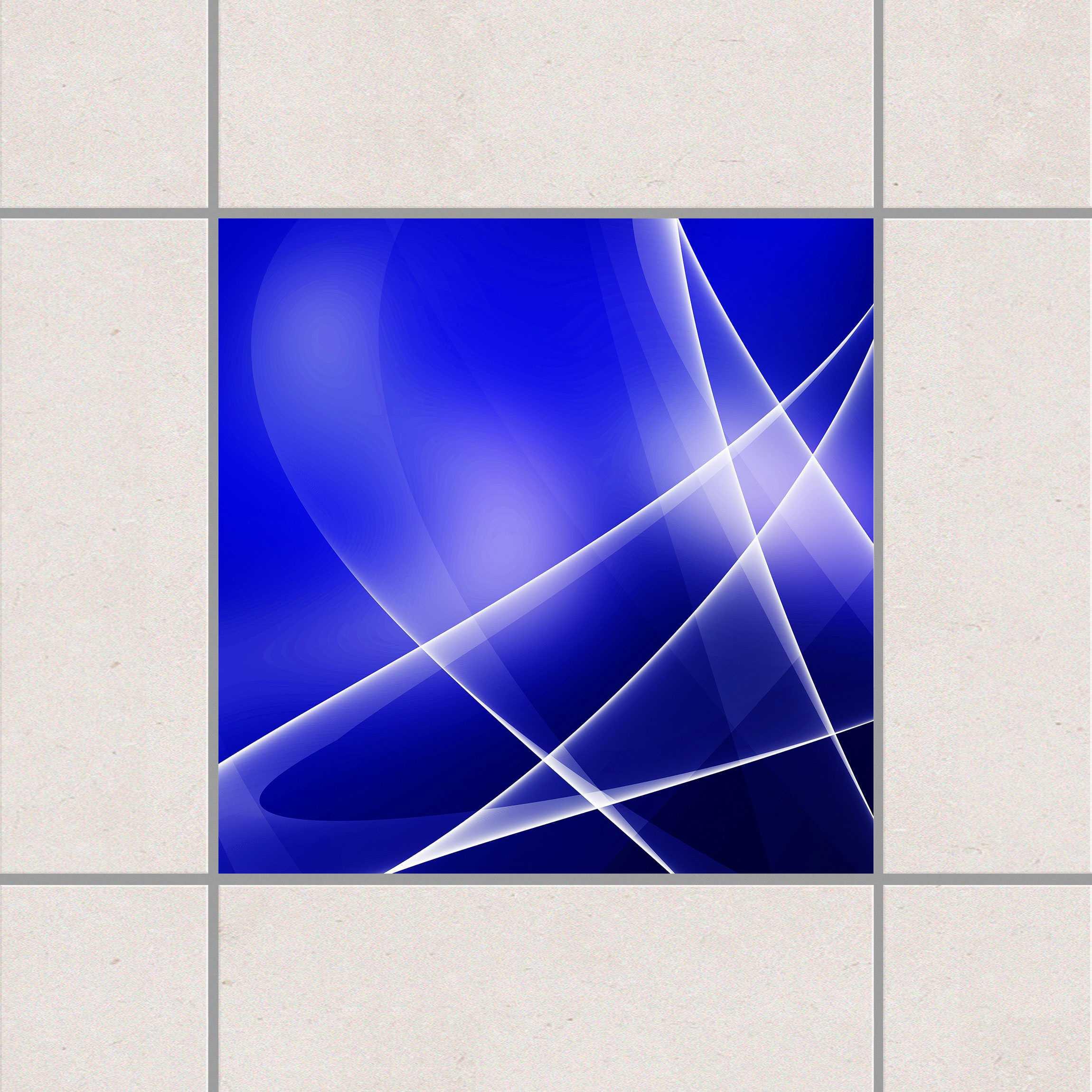 Fliesenaufkleber blue disco 15x15 cm fliesensticker set for Fliesensticker 15x15