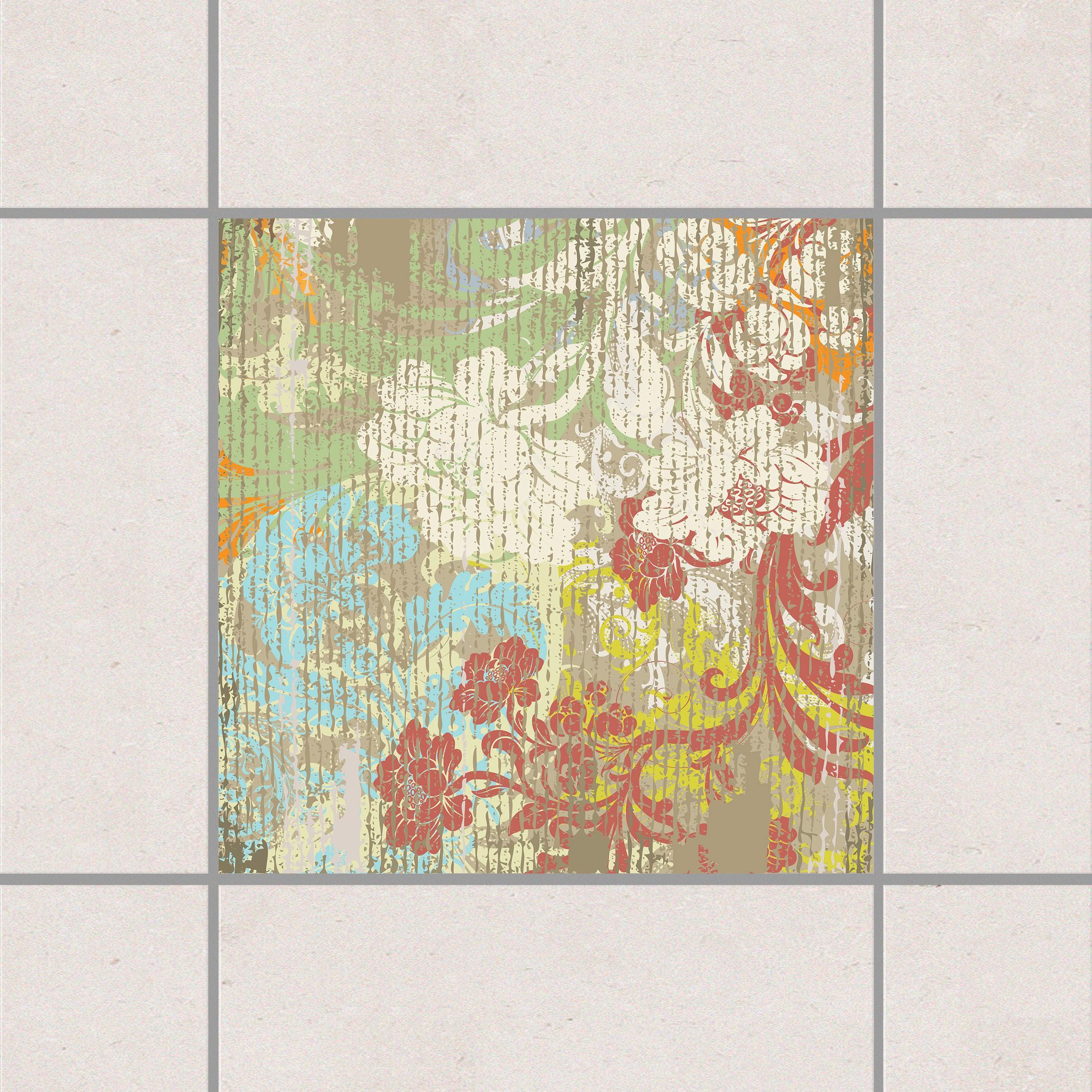 Fliesenaufkleber bl ten vergangener zeit 15x15 cm for Fliesensticker 15x15