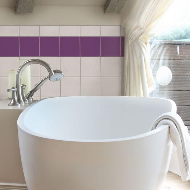 Produktfoto Fliesenaufkleber Bad & Küche - Colour Purple 15x15 cm - Set Violett