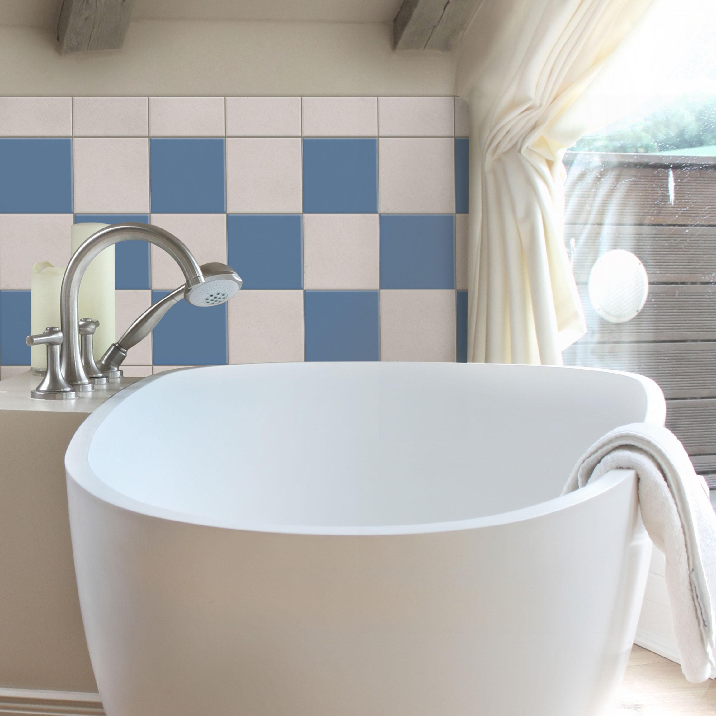 fliesenaufkleber bad k che colour royal blue 15x15 cm set blau. Black Bedroom Furniture Sets. Home Design Ideas